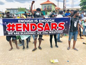 End SARS Protesters with Placards